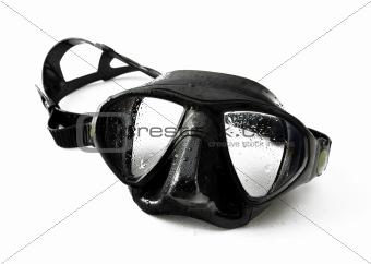 Black diving mask