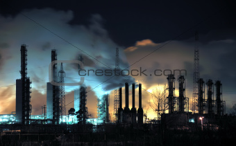 Grangemouth Refinery at Night