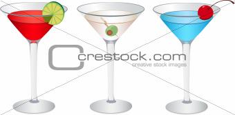 Cosmopolitan, Martini and Betty blue
