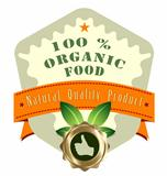Vector organic food product label