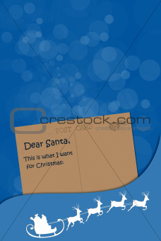 Dear Santa post card