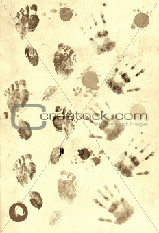 Prints of palms and foots