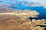 Aerial view of Colorado River and Lake Mead