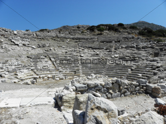 Greek theater for 5000 spectators inancient Knidos.