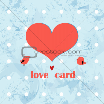 greeting card with a heart