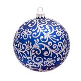 Traditional Christmas ball isolated on white