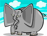 funny elephants cartoon against sky