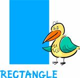 rectangle shape with cartoon bird