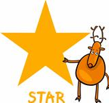 star shape with cartoon deer