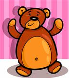 cute teddy bear cartoon in room