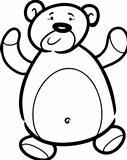 teddy bear cartoon for coloring book