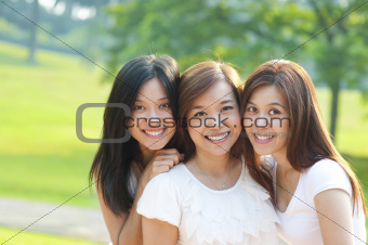 Asian young beautiful friends