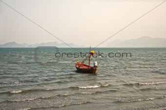 Fishing boat in Gulf of Siam
