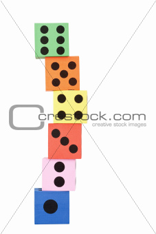 Tower made of dice