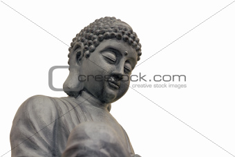 Japanese Zen Buddha Sculpture Closeup