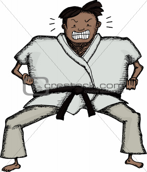 Tough Karate Man