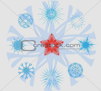 Snowflakes and Christmas Star