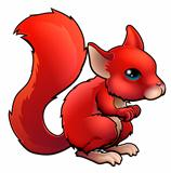 Red Cartoon Squirrel