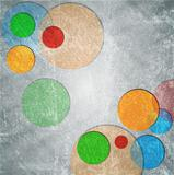 Colorful circles on grunge backdrop