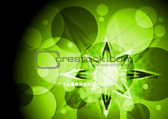 Green vibrant hi-tech design