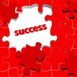 success concept with puzzle