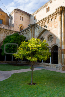 Court yard of the old cathedral in Tarragona, Spain.