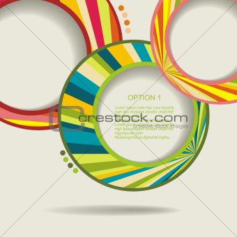 Abstract web design bubble, vector