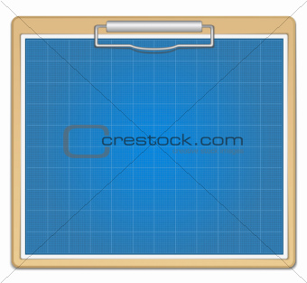 Clipboard with blueprint
