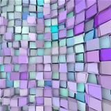 abstract 3d wave shape backdrop in blue purple