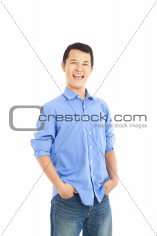 smiling asian young man