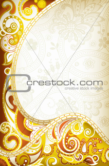Abstract Yellow Curve Background