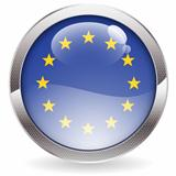 Gloss Button with EU Flag