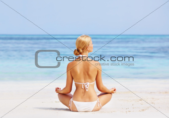 Healthy woman in meditation