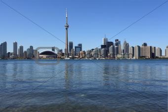 Toronto cityscape under clear sky