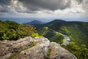Blue Ridge Parkway Craggy Gardens Scenic Mountains Landscape Asheville NC