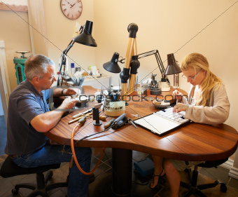 Jewelers in the workplace
