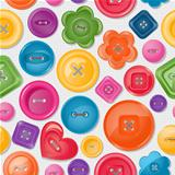 Seamless background with colorful buttons