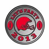american football helmet lets party 2013