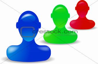 Three Mannequin Heads