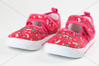 Red baby shoes