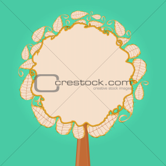 Abstract Tree with Round Leaf Crown
