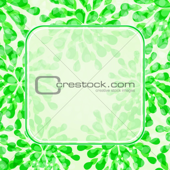 Green Floral Invitation Card