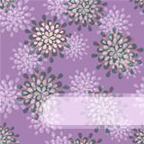 Purple Floral Invitation Card