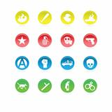 Protest icons color