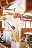 Chef working in the restaurant kitchen