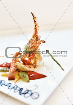Fresh and delicious sea food meal
