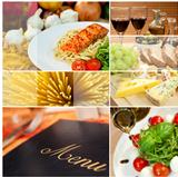 Montage of Restaurant Menu, Food and Drink