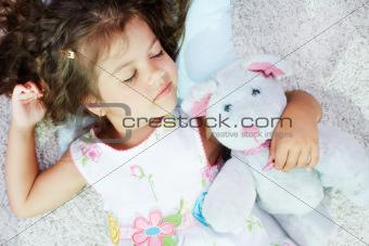 Sleeping with teddybear