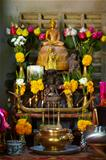 Sacred shrine, showered with offerings