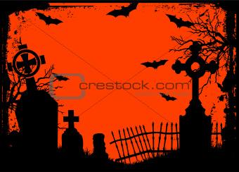 Halloween cemetery